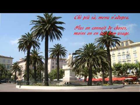 Proverbes Corse - Bastia - Place Saint Nicolas - Antoine Ciosi - Eo sò natu in Bastia 13/04/2014