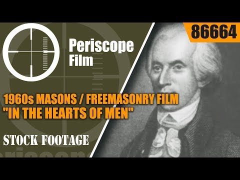 "1960s MASONS / FREEMASONRY FILM  ""IN THE HEARTS OF MEN"" 86664"