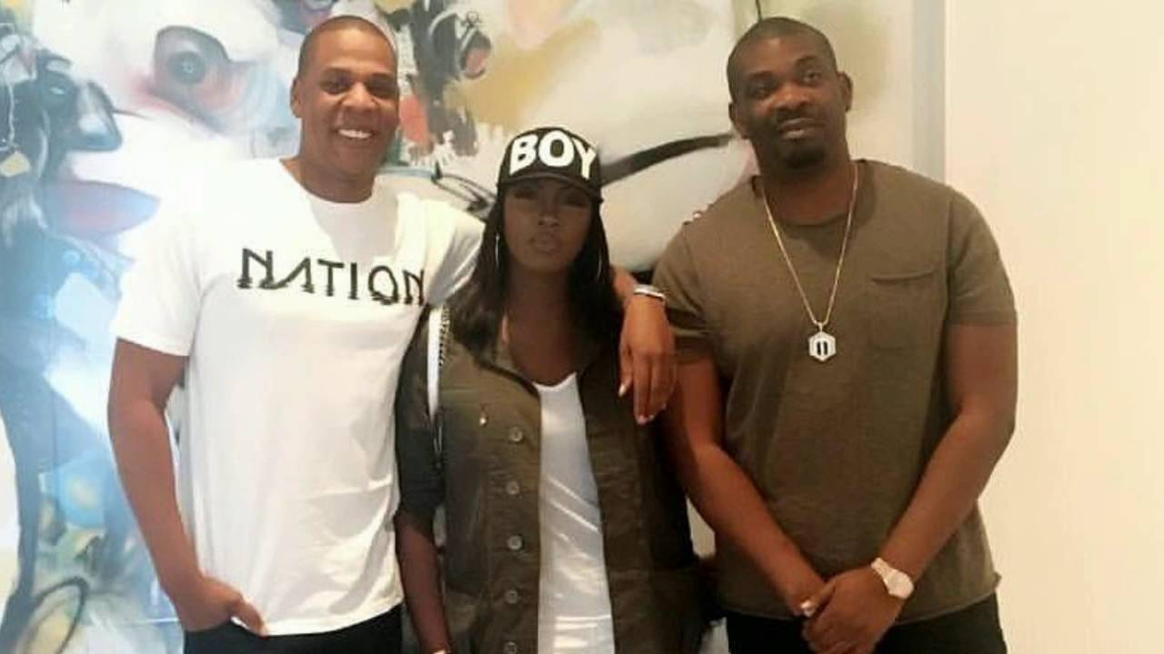 Don Jazzy, Tiwa Savage and DJ Big N visit with Jay Z at Rocnation's HQ