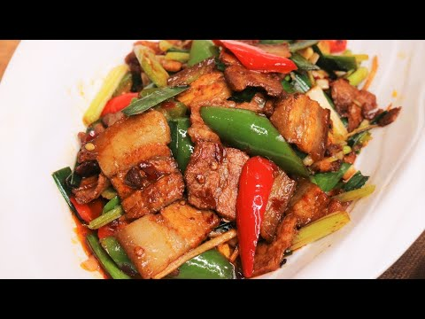 STIR FRY RECIPES - Twice Cooked Pork (Chinese Recipe) [回锅肉]