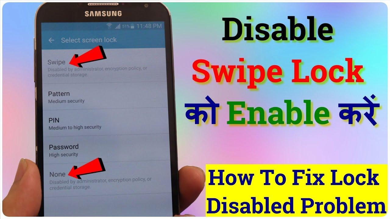 Download How To Fix Swipe Lock Disabled Problem (Unlocked Swipe Lock in Hindi) Lock Problem Solve Kaise Kare