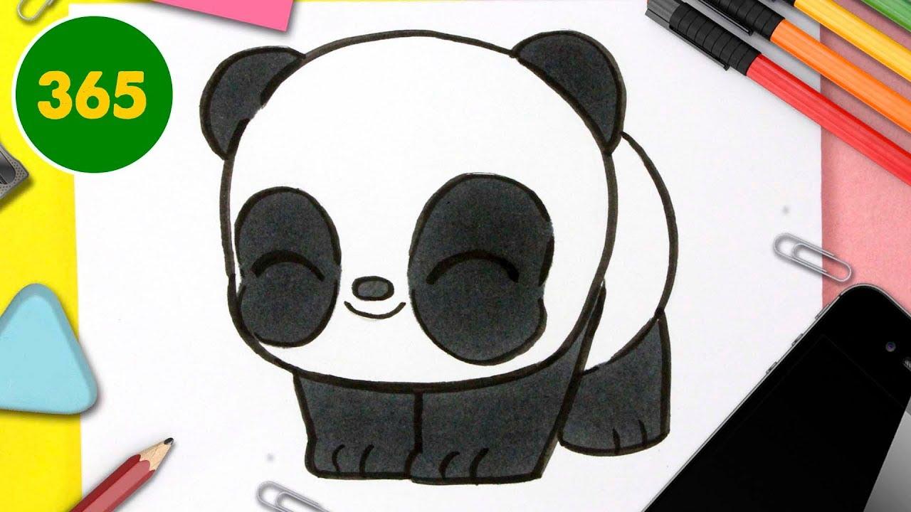 Comment Dessiner Panda Kawaii Etape Par Etape Dessins Kawaii Facile Youtube