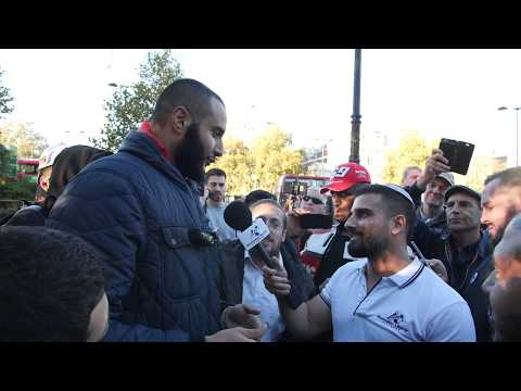 Daring Jew Avi Yemeni Confronts 'Giant' Muslim