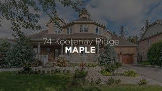 74 Kootenay Ridge, Maple Vaughan Estate