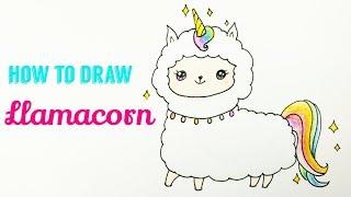 How To Draw A Llamacorn