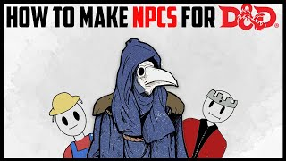 How to Make NPCs for Tabletop RPGs