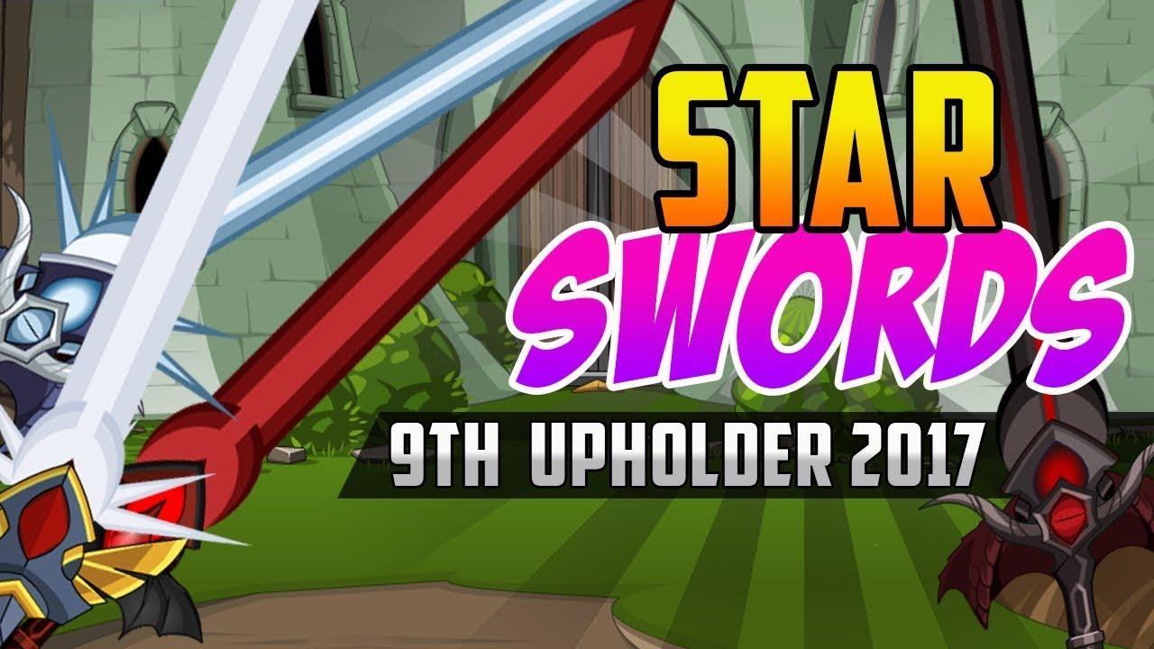 =AQW= ALL STAR SWORDS (9TH UPHOLDER) - AQW 2017