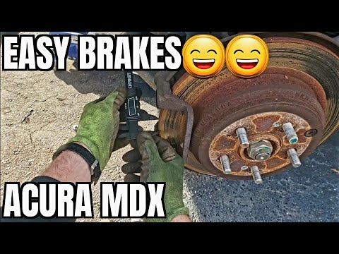 2007 2013 Acura MDX Rear Brake Pads Rotors Replace How to Sqealing Grinding 2012 2011 2010 2009 2008