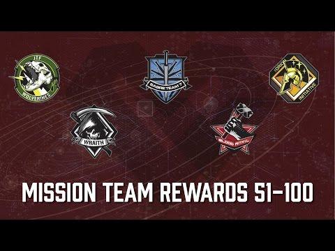 Mission Team Rewards - Levels 51 Through 100