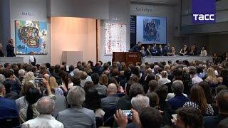 Картину художника Жан Мишеля Баския продали за 0,5 млн на аукционе Sotheby's в Нью Йроке