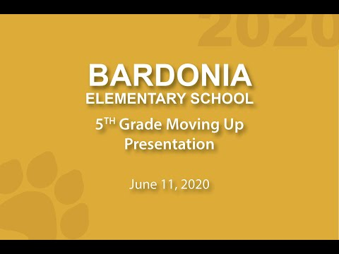 Bardonia Elementary School Virtual Moving Up Ceremony 2020