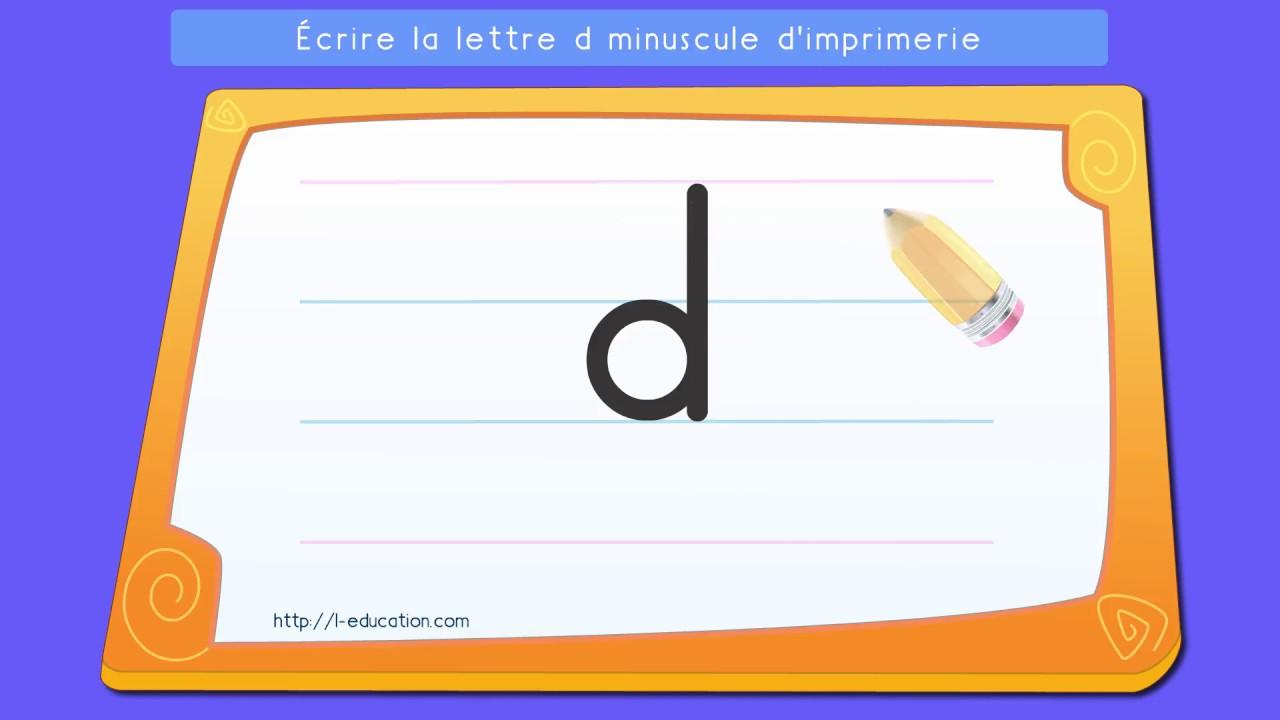 Crire l 39 alphabet script apprendre crire la lettre d minuscule d 39 imprimerie youtube - H en majuscule ...
