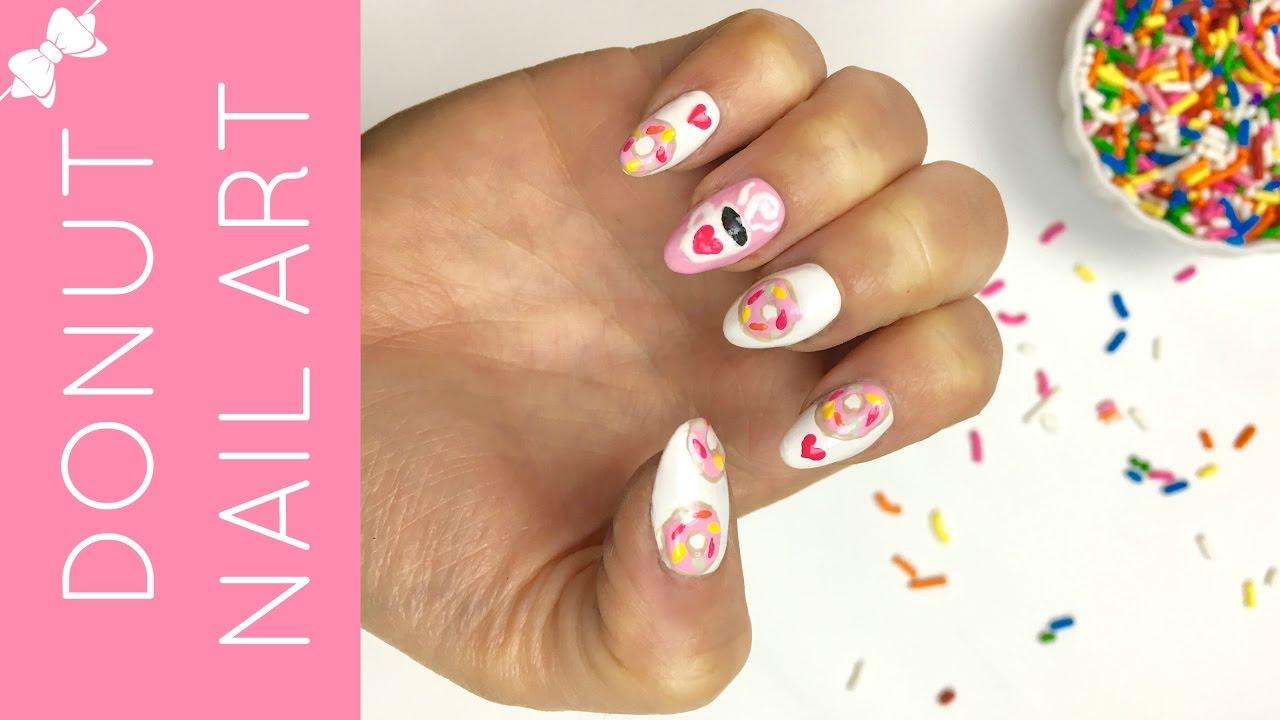 donut nail art design lindsay