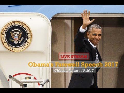 Live Stream Obama's Farewell Speech in Chicago Jan 10, 2017 - President Obama Farewell Ceremony