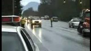 Car Crash Two Vehicles T-Bone Lougheed Hwy & Pitt River Rd Coquitlam BC Canada