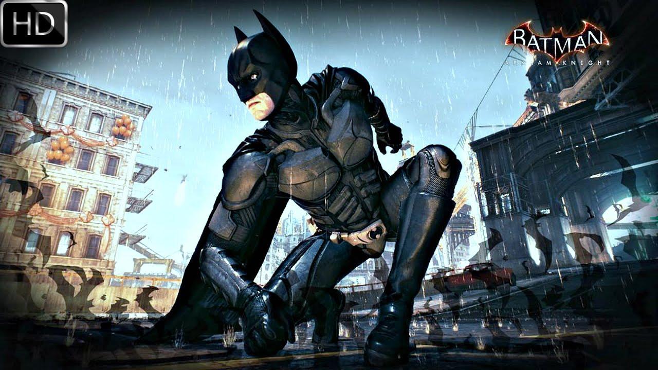 batman arkham knight dark knight skin gameplay hd youtube