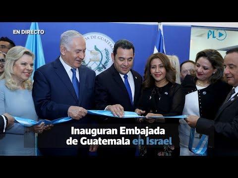 Presidente Jimmy Morales inaugura embajada de Guatemala en Jerusalén