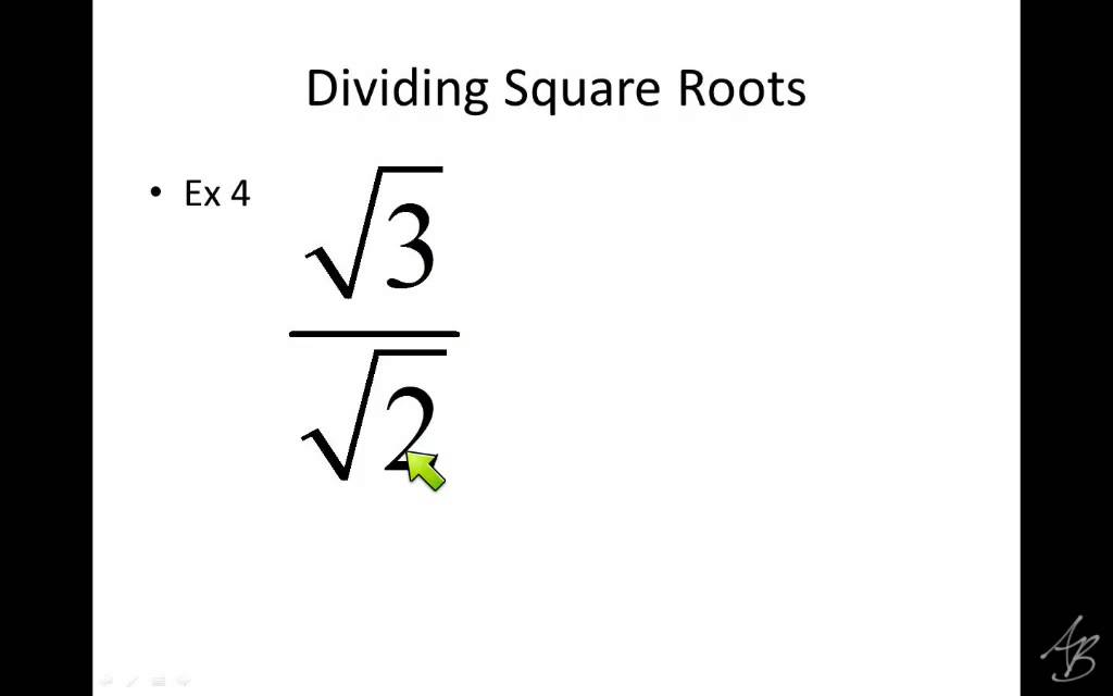 Dividing square roots notes youtube dividing square roots notes ccuart Gallery