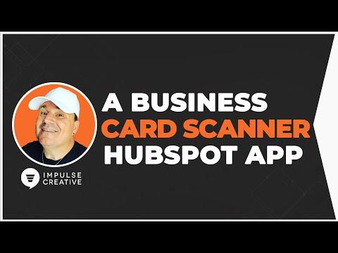 Free HubSpot Business Card Scanner - HubSpot Mobile App