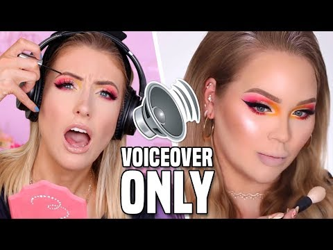 I Tried Following ONLY THE VOICEOVER of a NIKKIETUTORIALS MAKEUP TUTORIAL!