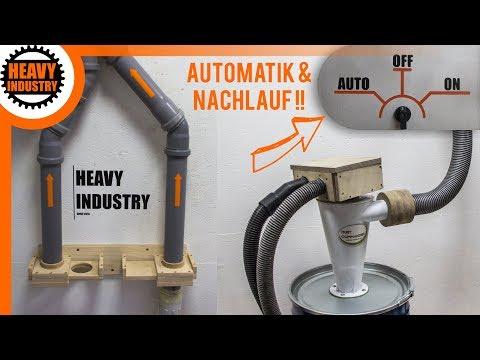 (1/2) Absauganlage selber bauen | mit Einschaltautomatik und Nachlauf