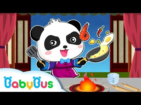 Panda Chef: Make Chinese Recipes | Kids Chef Gameplay Videos | BabyBus Game