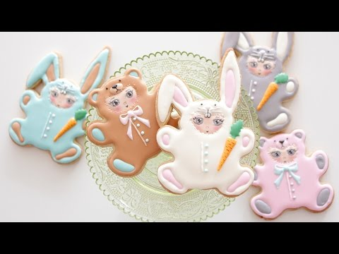 How To Decorate Easter Cookies: Bunnies & Bears!