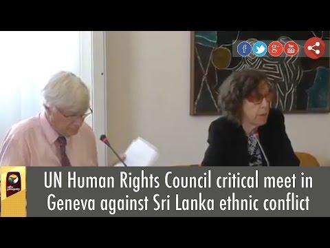 UN Human Rights Council critical meet in Geneva against Sri Lanka ethnic conflict