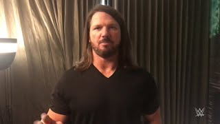 AJ Styles teases his phenomenal gear for Sunday's Match against Samoa Joe: SummerSlam Diary