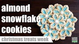 almond snowflake cookies Something Vegan Christmas Treats Week