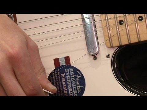 Les cordes de guitare collectées pour être recyclées