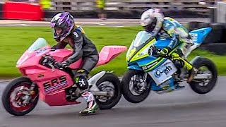 Minibikes: 9 Year Old in LAST LAP DRAMA at the Cool FAB British Championships!