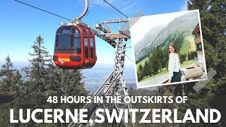 Gambar cover 48 HOURS in the outskirts of LUCERNE, SWITZERLAND | Mt. Pilatus & Küssnacht!