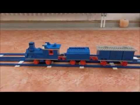 lego eisenbahn 70er blaue schienen train railway gelber. Black Bedroom Furniture Sets. Home Design Ideas