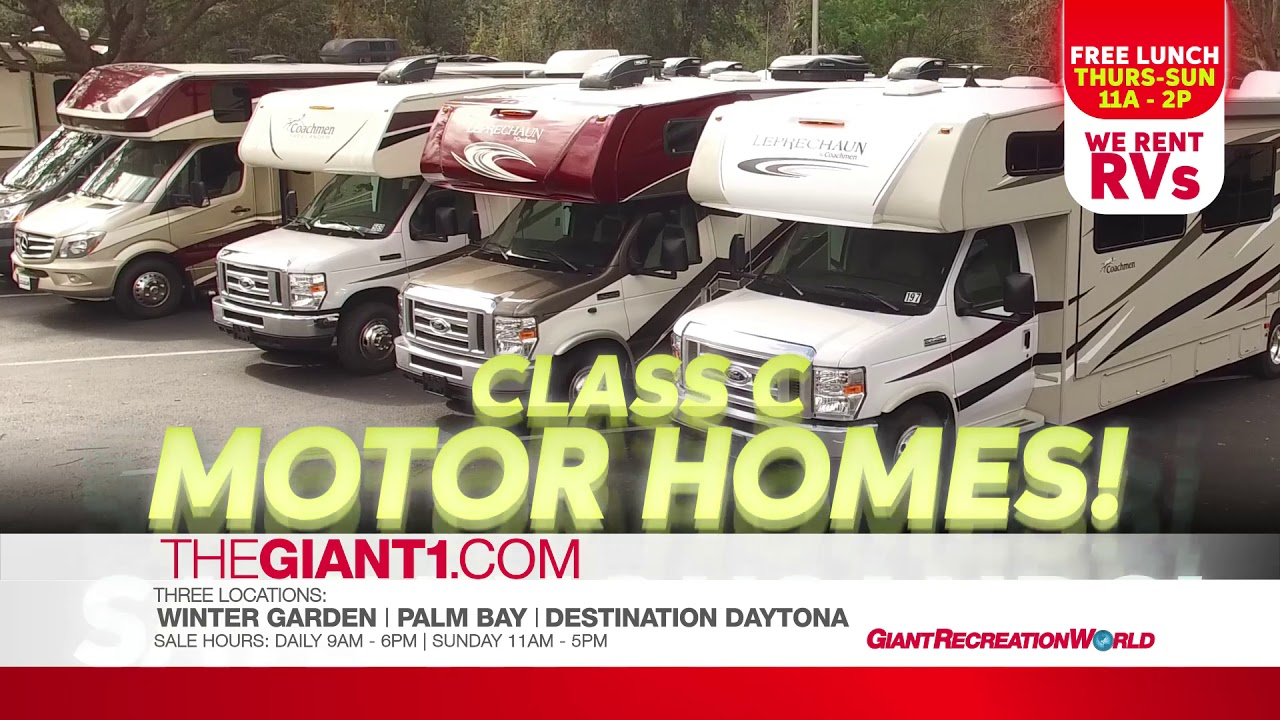 Rv Sale Giant Recreation World Jan 25 28 2018 Class C Motorhomes Youtube