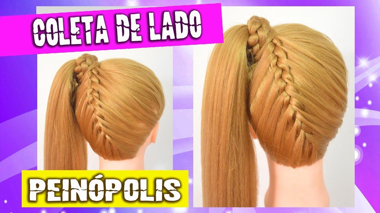 Coleta Con Trenza Atras Peinados Faciles Y Rapidos Para Nina Youtube