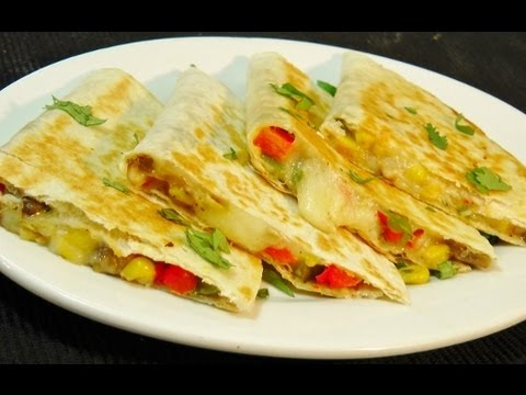 Vegetable Quesadilla Easy Mexican Recipe Youtube