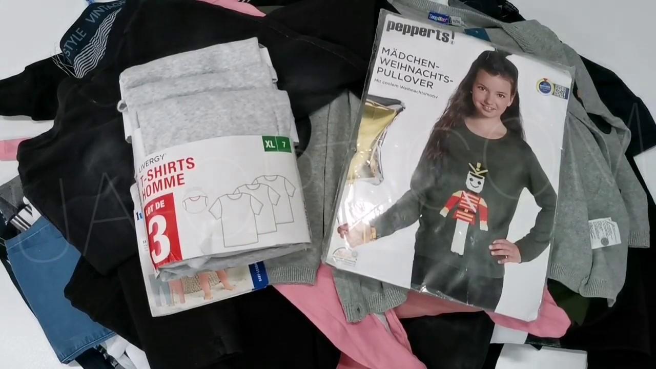 thumbnail video Одяг оптом LIDL весна-літо 25 кг * 9,9 €/кг лот #593