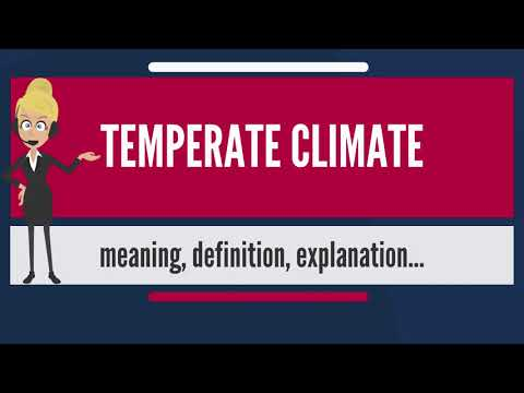 What is TEMPERATE CLIMATE? What does TEMPERATE CLIMATE mean? TEMPERATE CLIMATE meaning