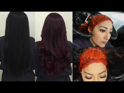 FROM JET BLACK TO BURGUNDY! HAIR VLOG :)