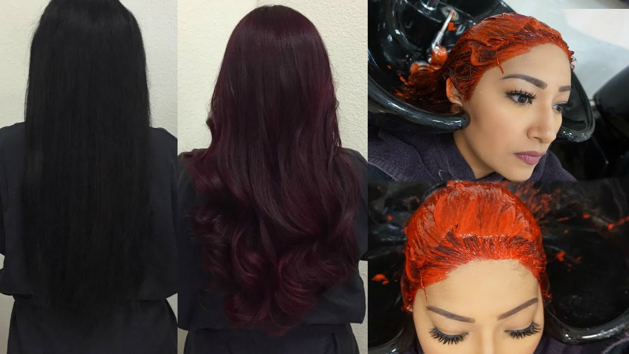 From Jet Black To Burgundy Hair Vlog Youtube