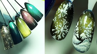 ❤ простой ПОШАГОВЫЙ мастер класс ❤ ЗИМНИЙ дизайн ногтей гель лаком ❤ ТОП 2020 дизайн ❤