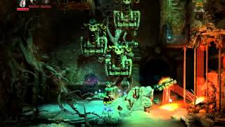 Trine 2 DLC Expansion Goblin Menace Level 2 All Experiences and Secrets (Paintings and Poems)