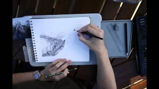 Neuschwanstein Castle time-lapse (drawing)