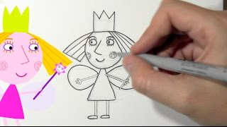How to draw Princess Holly from Ben and Holly