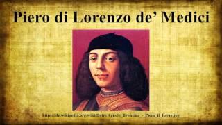 Piero Di Lorenzo De' Medici
