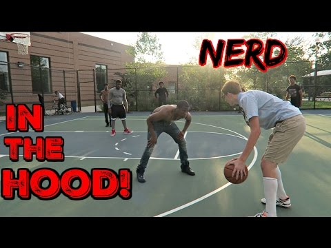 Nerd Plays Basketball In The HOOD!