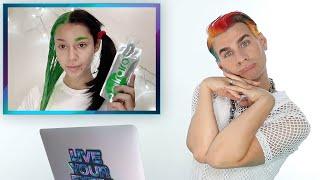 Hairdresser Reacts To DIY Split Dye Hair