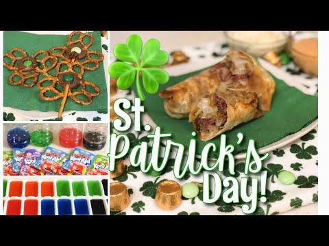 ST. PATRICK'S DAY RECIPES! APPETIZER + DRINK + TREAT 🍀💚