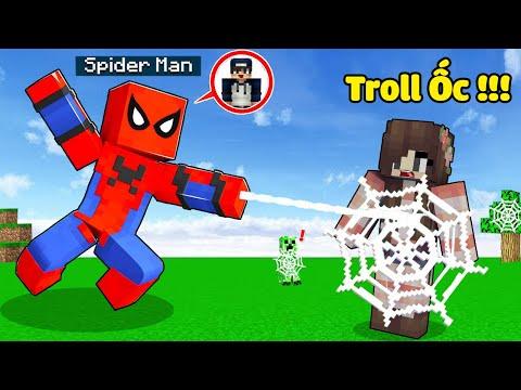 bqThanh Troll Ốc Bằng Bộ Giáp NGƯỜI NHỆN Siêu Vip Trong Minecraft ?